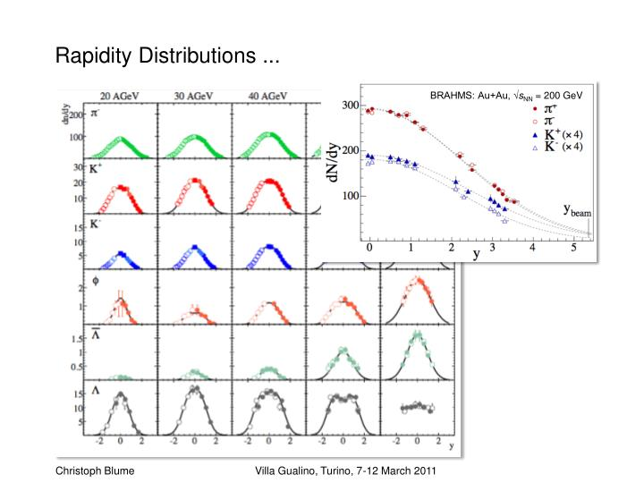Rapidity Distributions ...