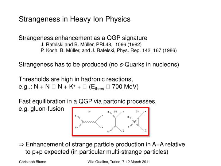 Strangeness in Heavy Ion Physics