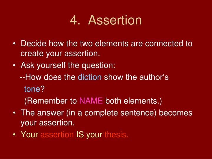 4.  Assertion