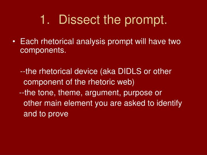 Dissect the prompt.