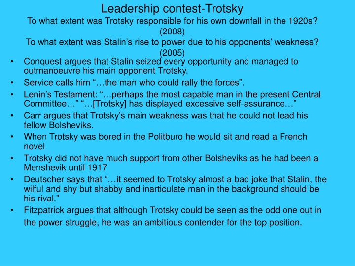 Leadership contest-Trotsky