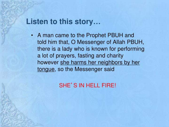 Listen to this story…
