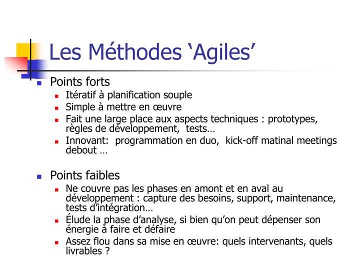 Les Méthodes 'Agiles'