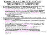 powder diffraction file pdf adatb zis f zisazonos t sok f ziselemz sek