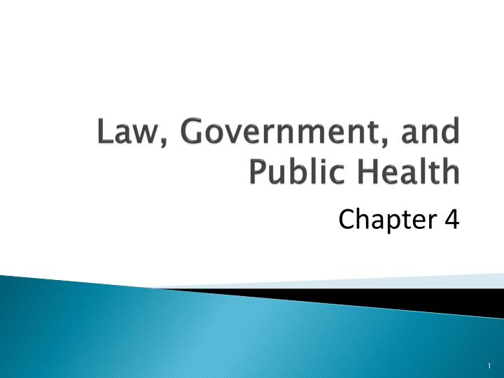 Law government and public health