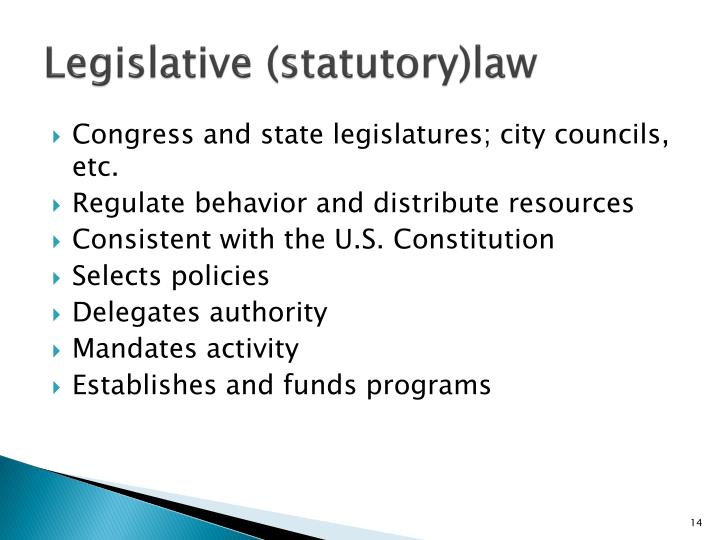 Legislative (statutory)law