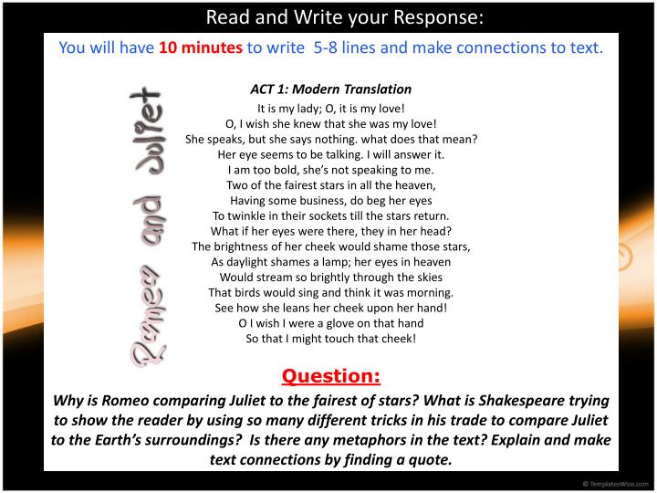 Read and Write your Response: