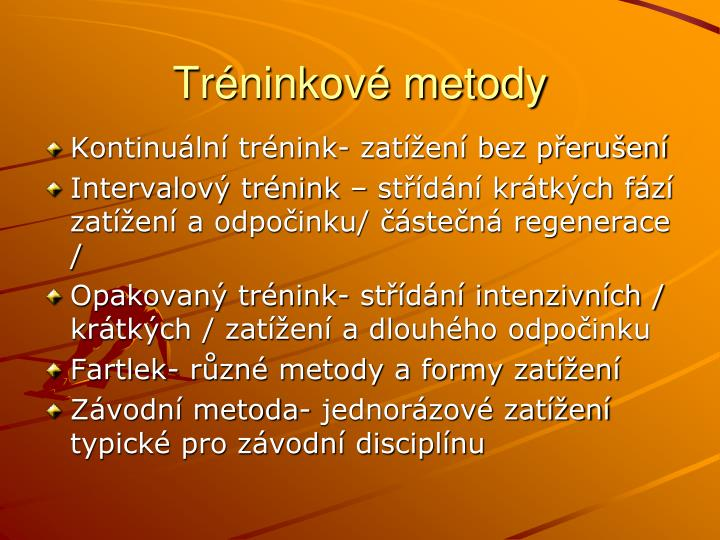 Tréninkové metody
