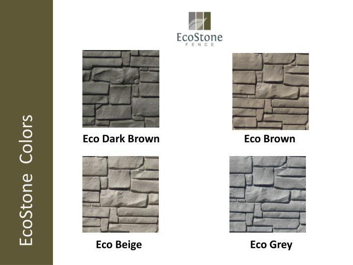 EcoStone  Colors