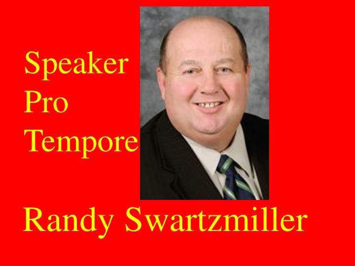 Speaker Pro Tempore