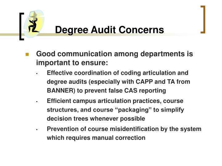 Degree Audit Concerns