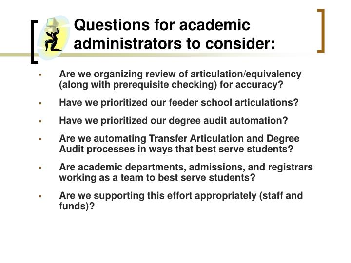 Questions for academic