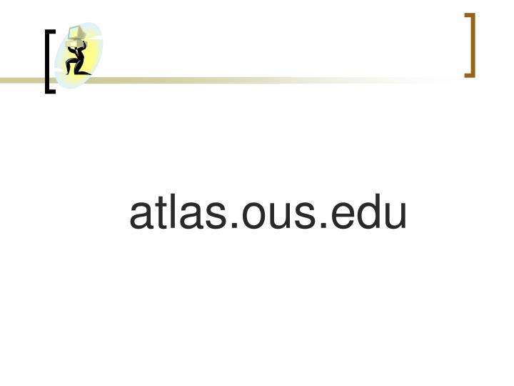 atlas.ous.edu