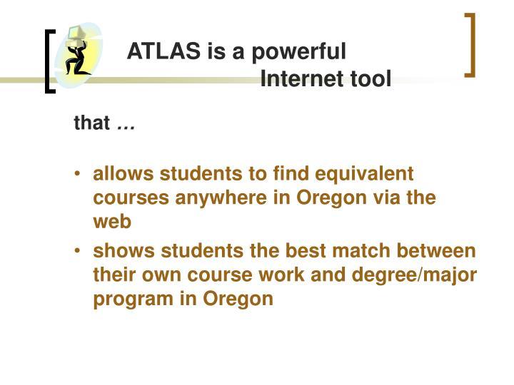 ATLAS is a powerful