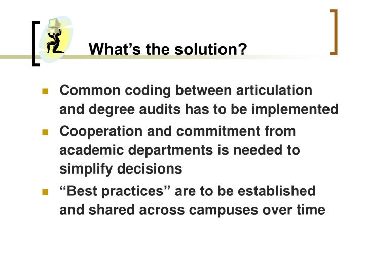 What's the solution?