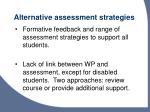 alternative assessment strategies