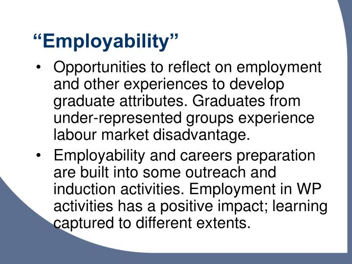 """""""Employability"""""""