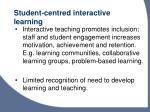 student centred interactive learning