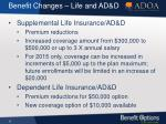 benefit changes life and ad d1