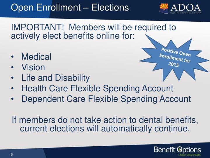 Open Enrollment – Elections