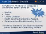 open enrollment elections