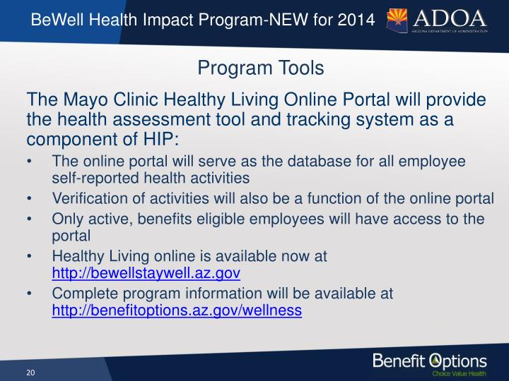 BeWell Health Impact Program-NEW for 2014