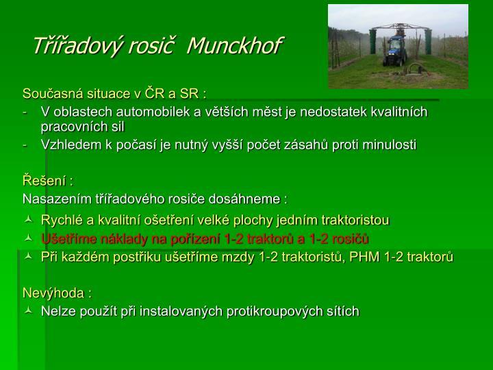 Současná situace v ČR a SR :
