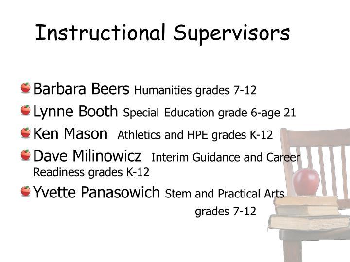 Instructional Supervisors
