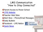 lms communication how to stay connected
