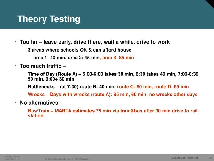 Theory Testing