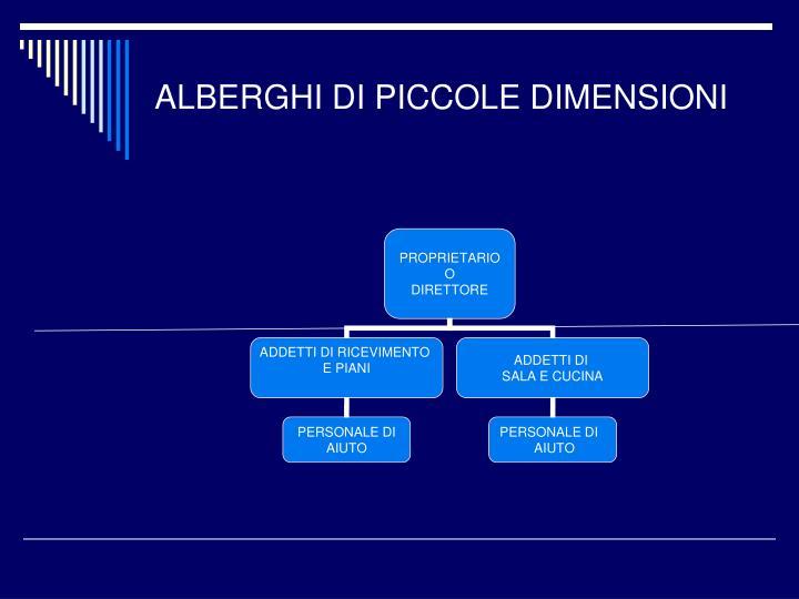 ALBERGHI DI PICCOLE DIMENSIONI
