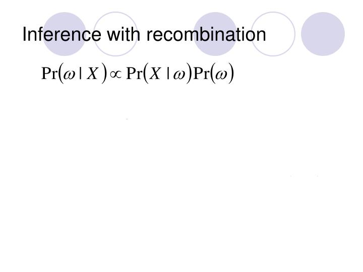 Inference with recombination