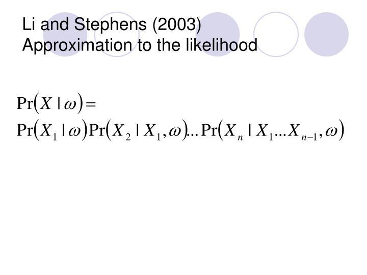 Li and Stephens (2003)