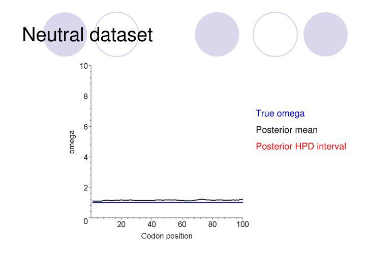 Neutral dataset