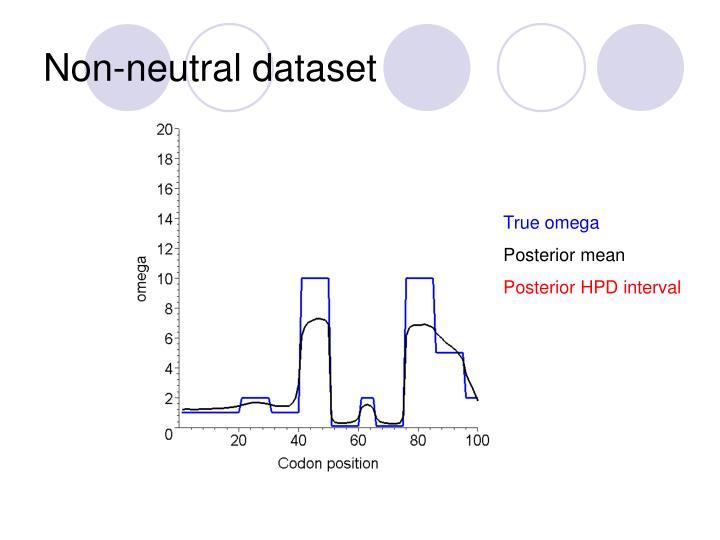 Non-neutral dataset