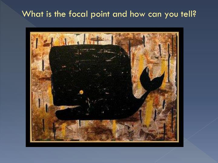 What is the focal point and how can you tell?