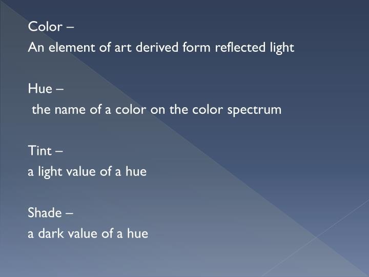 Color –