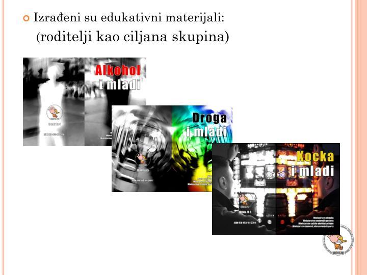 Izrađeni su edukativni materijali: