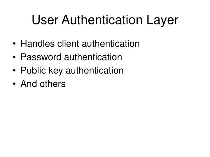 User Authentication Layer