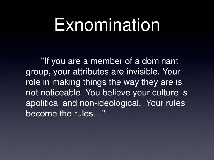 Exnomination