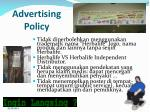 advertising policy