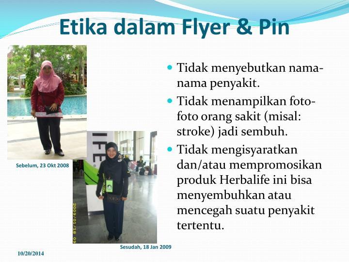 Etika dalam Flyer & Pin