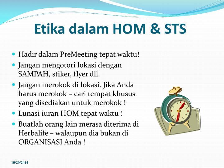 Etika dalam HOM & STS