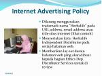 internet advertising policy