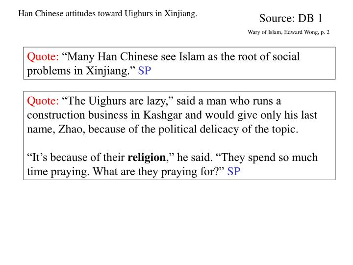 Han Chinese attitudes toward Uighurs in