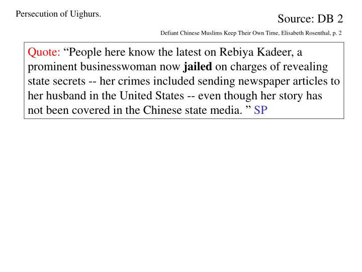 Persecution of Uighurs