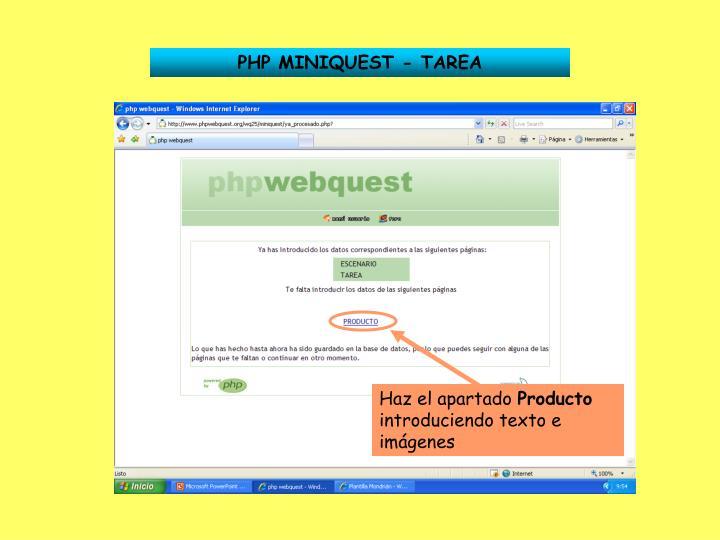 PHP MINIQUEST - TAREA