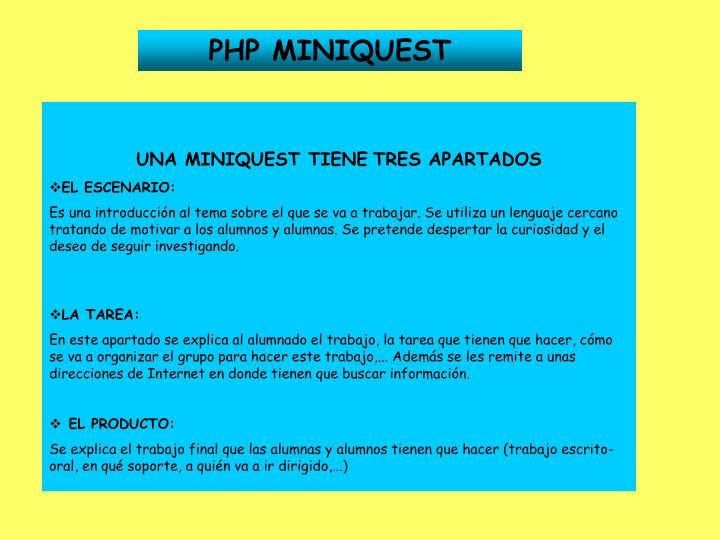 PHP MINIQUEST