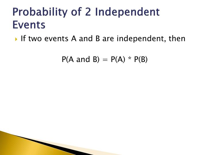 Probability of 2 Independent Events