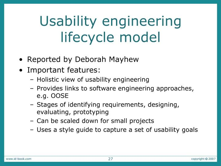 Usability engineering lifecycle model